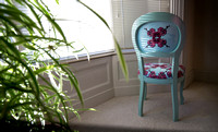 Orchids illustrated bedroom chair